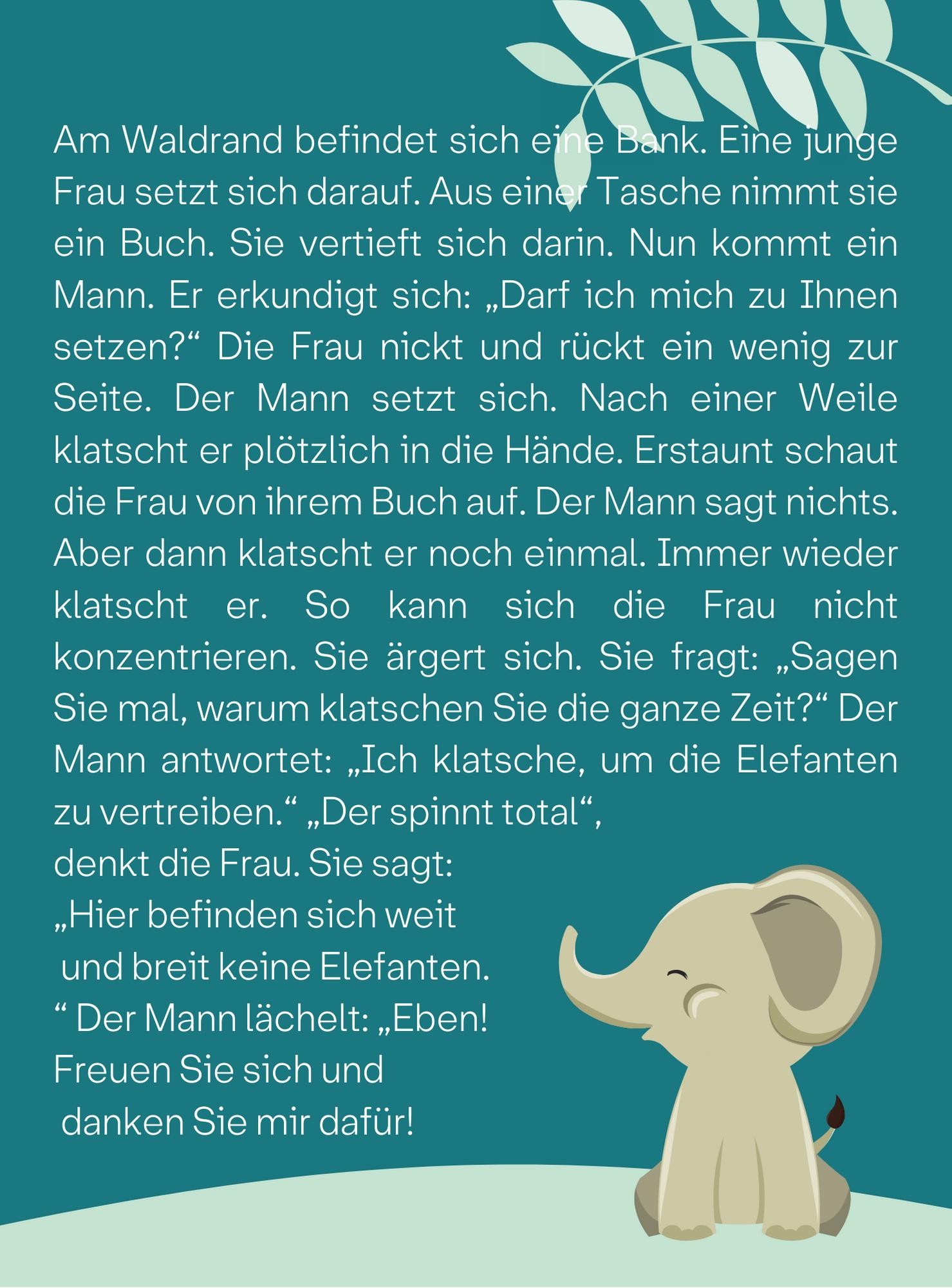 Hier gibts keine Elefanten masolata