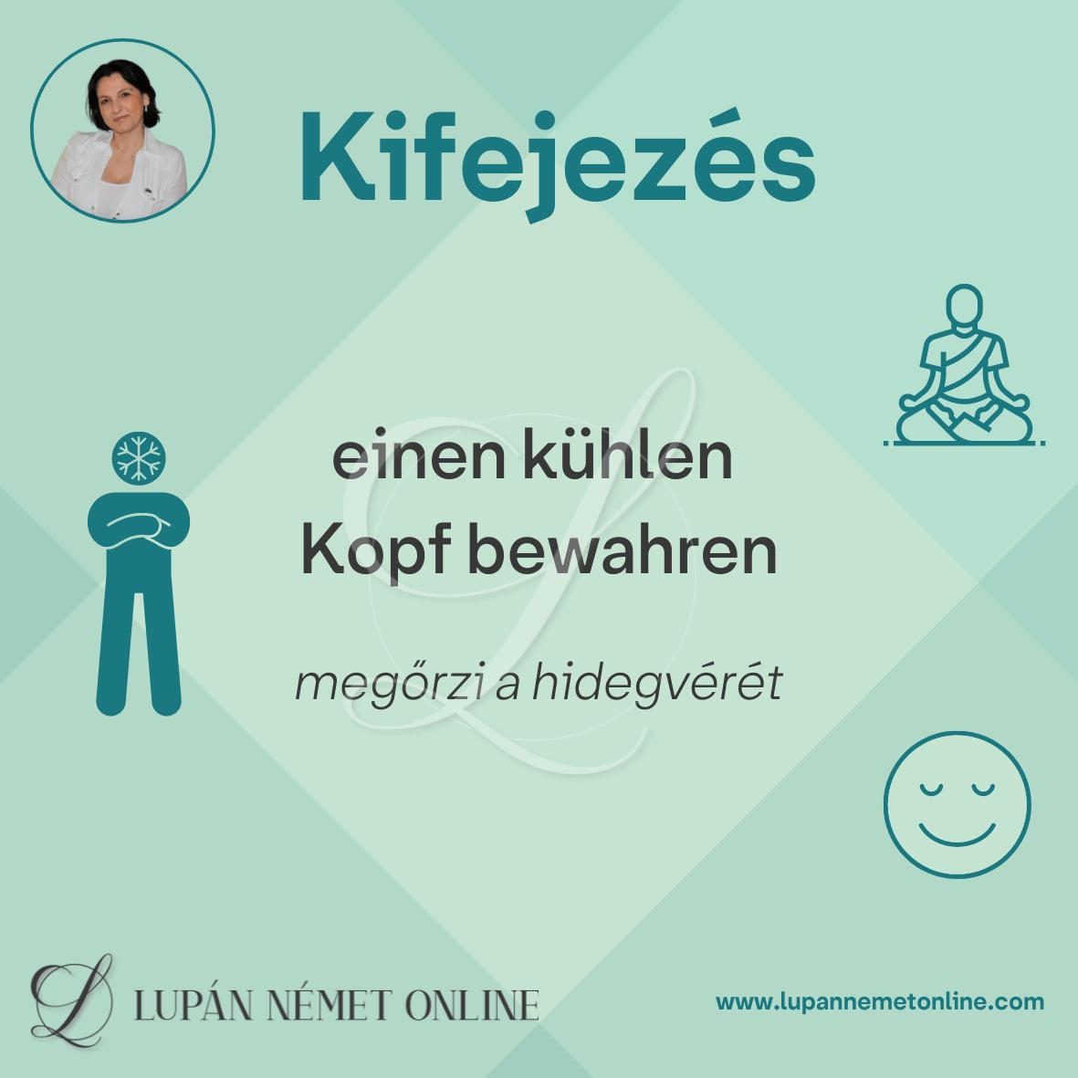 Kifejezés_kuehlen_kopf