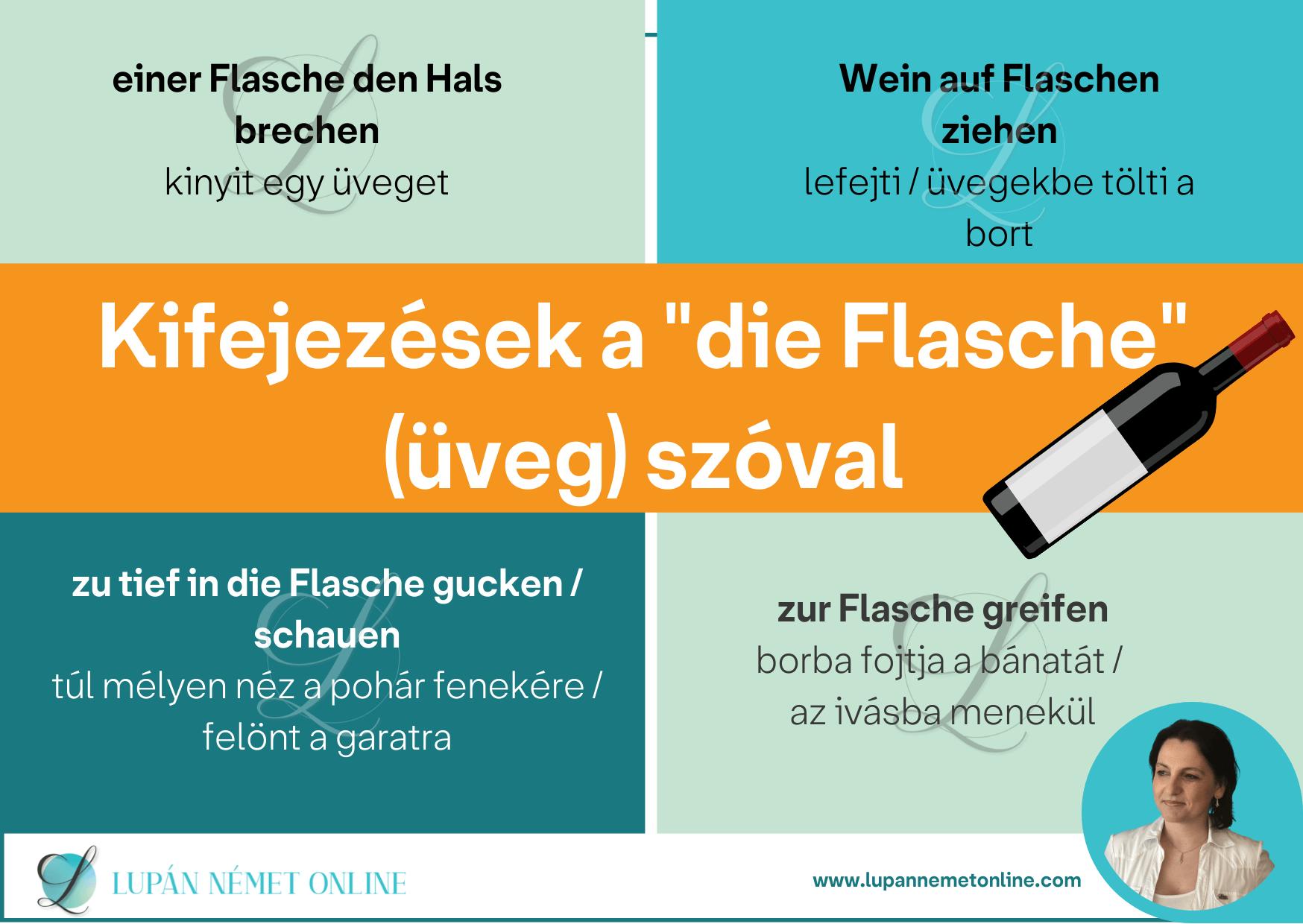 Kifejezések_a_die Flasche_üveg_szóval