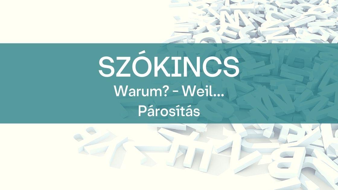 Szokincs warum weil