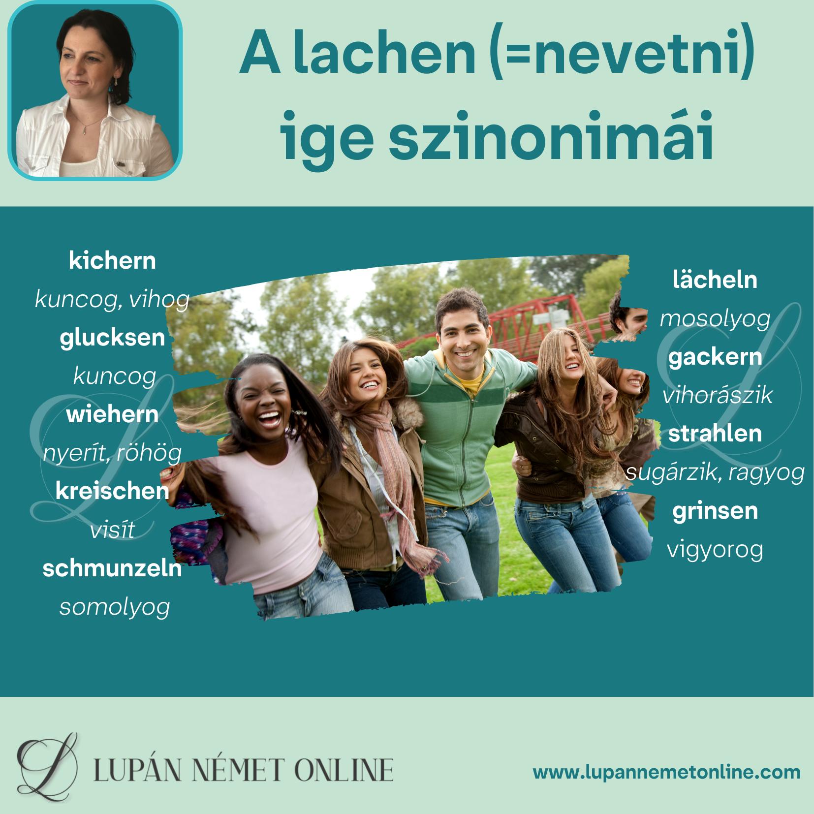lacheln _szinonimái