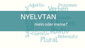 nyelvtan_mein oder meine