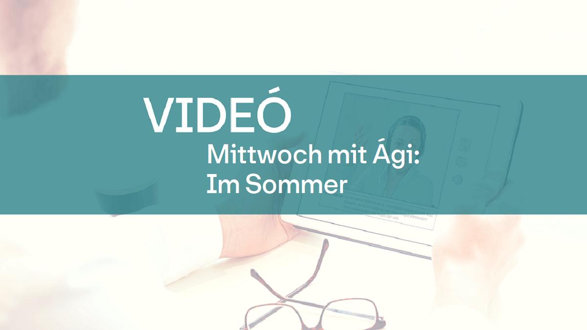 video mittwoch mit Agi im Sommer 1