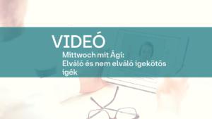 video Mittwoch mit Agi Elvalo es nem elvalo igekotos igek 1