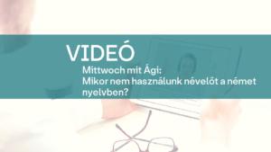 video Mittwoch mit Agi nevelo 1