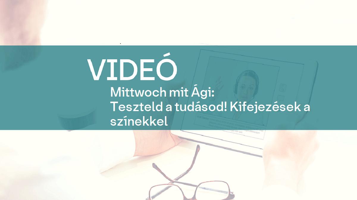 video Mittwoch mit Agi szinekk 1