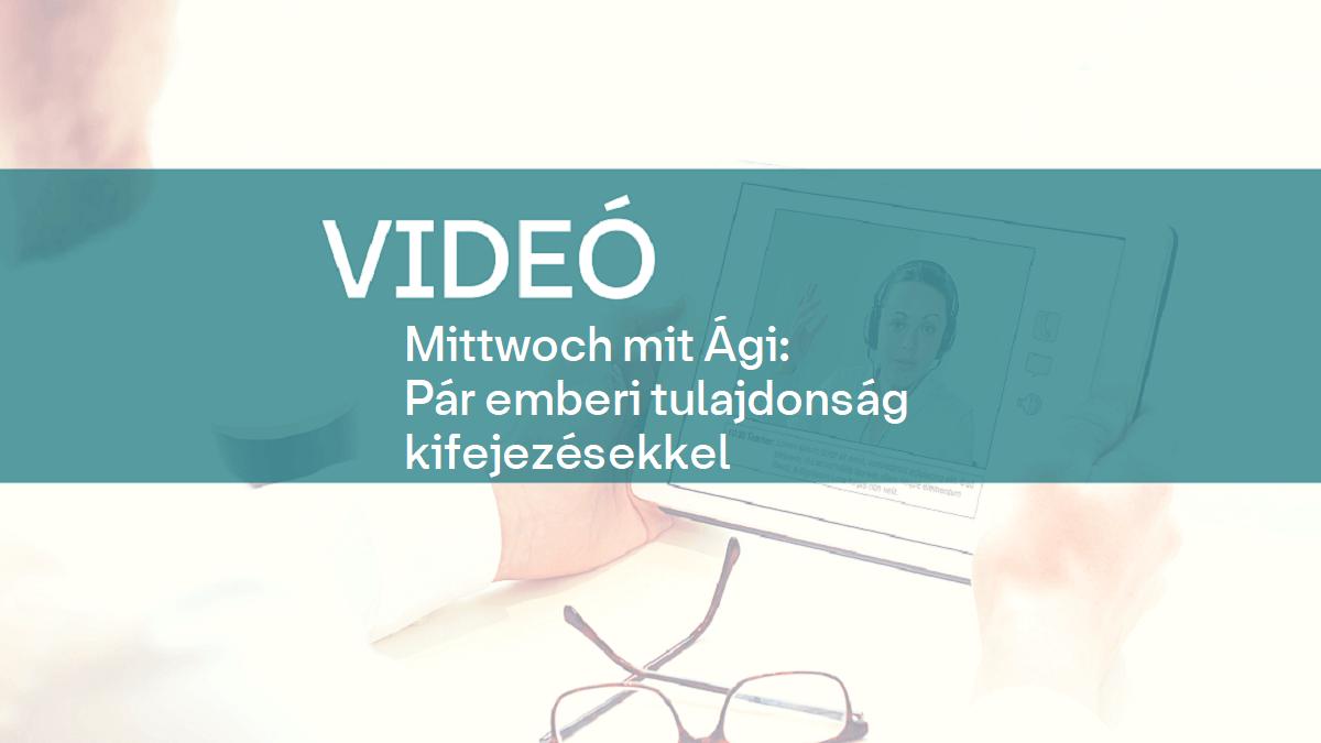 video Mittwoch mit Agi tulajdonsag kifejezes 1