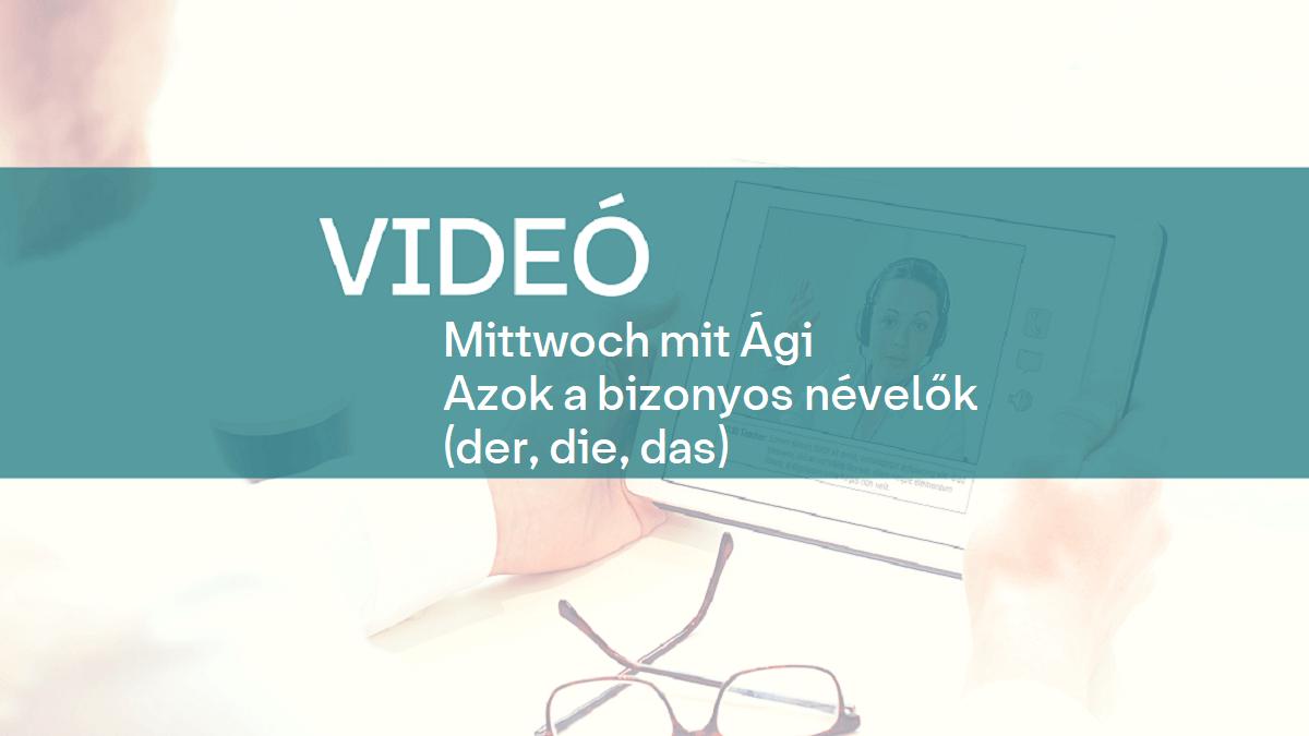 video Mittwoch mit Agi nevelok 1